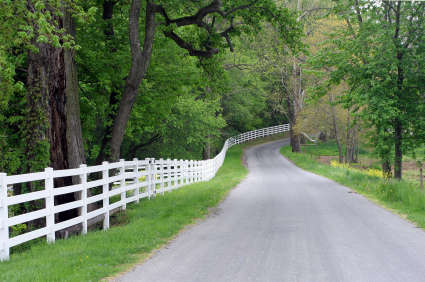 scenic country road in lancaster county
