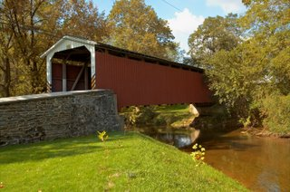 Amish Covered Bridge in Lancaster County
