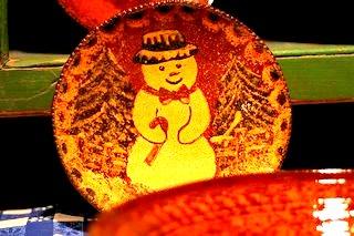 Seasonal Redware Slipware Dish